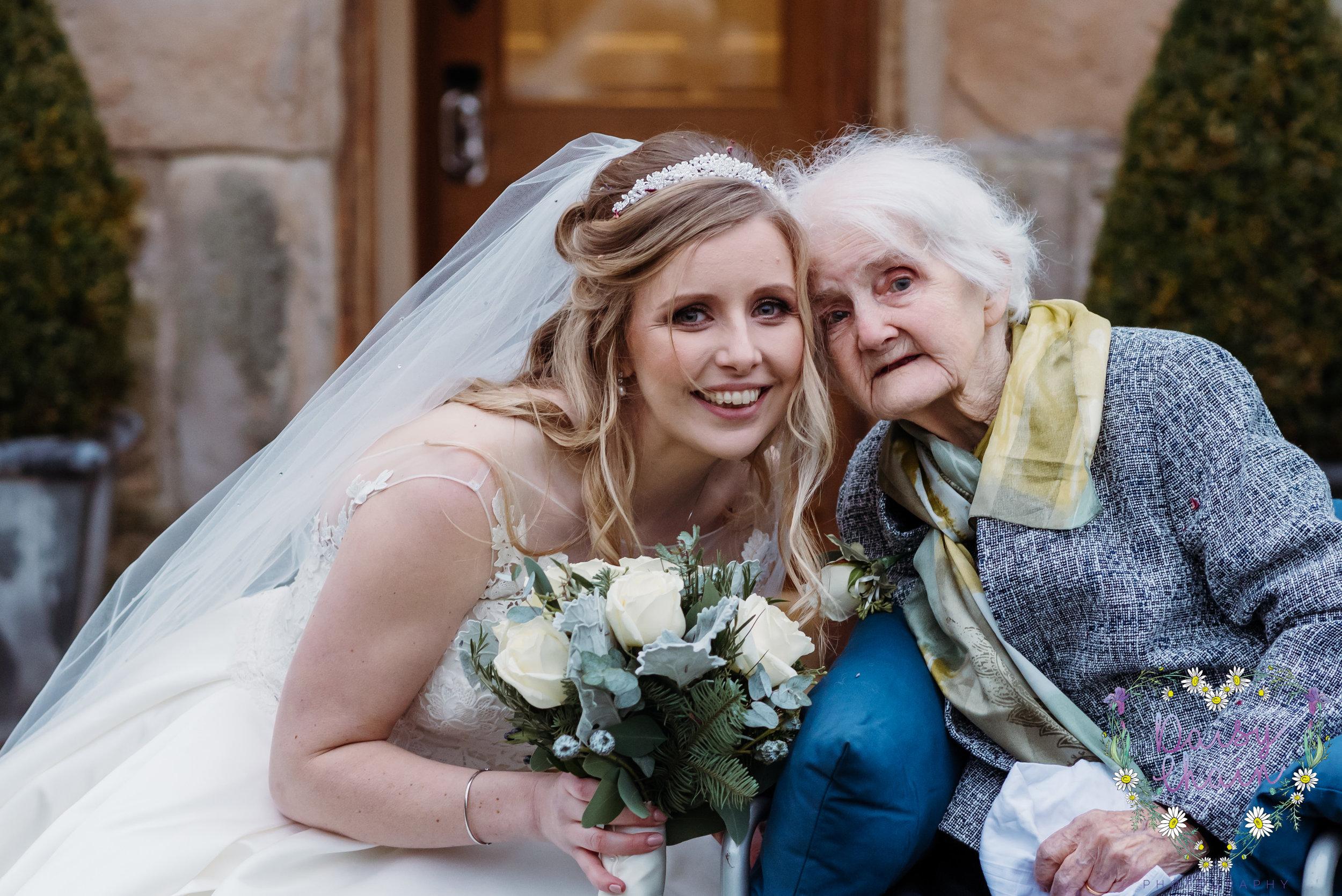 Bride and Gran - lancashire