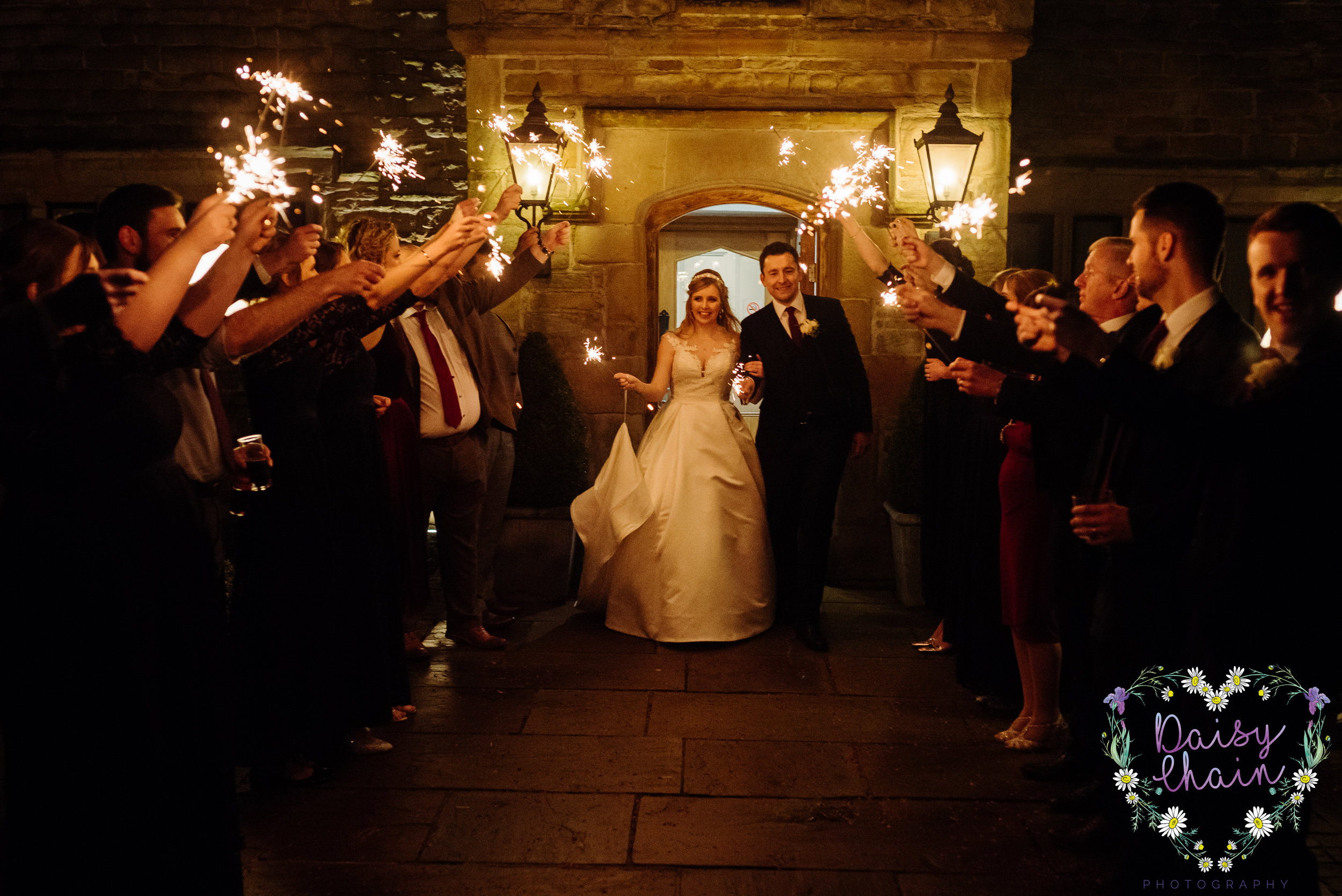 Sparkler shot - lancashire wedding
