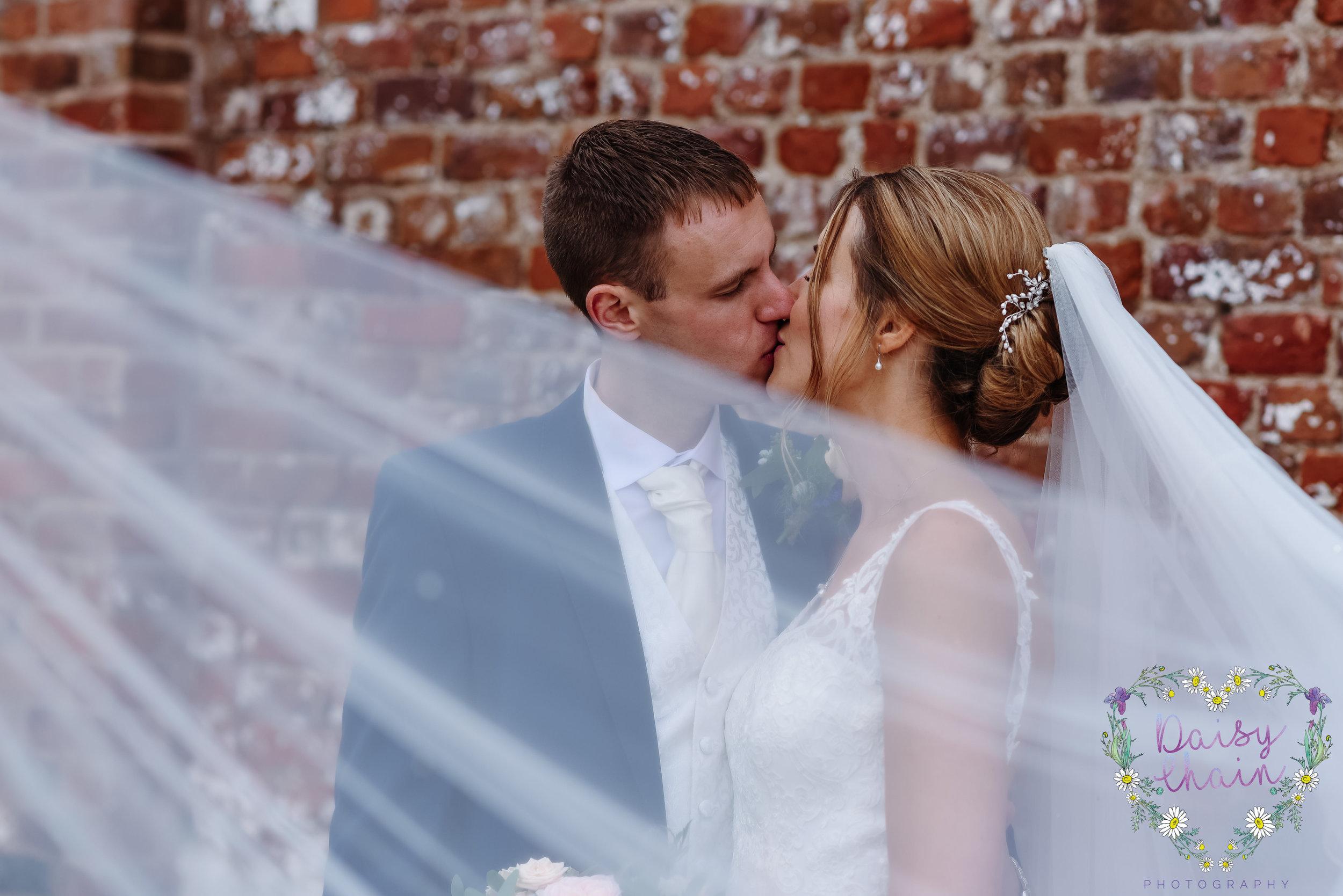 Veil shot - wedding photography