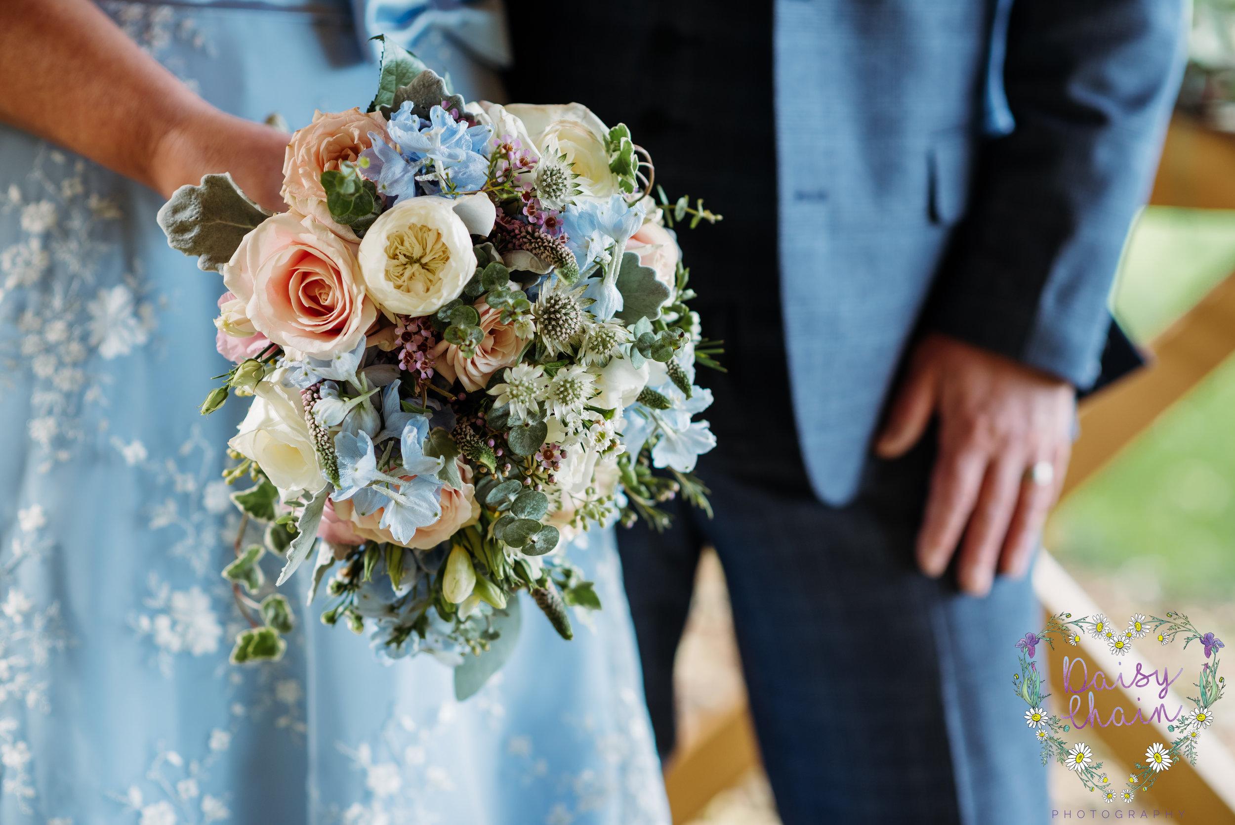 Wedding bouquet - something blue