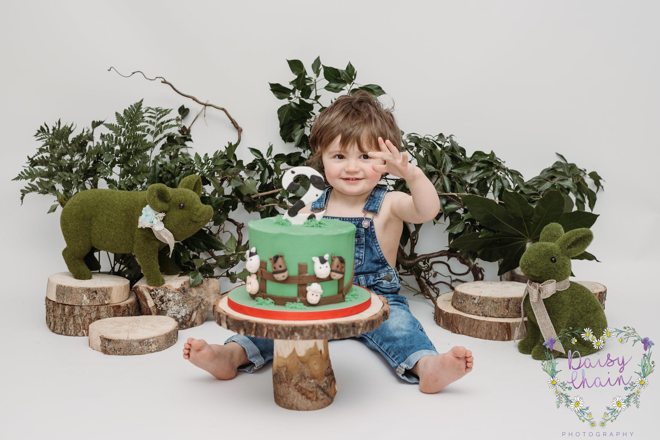 Lancashire farm cake smash