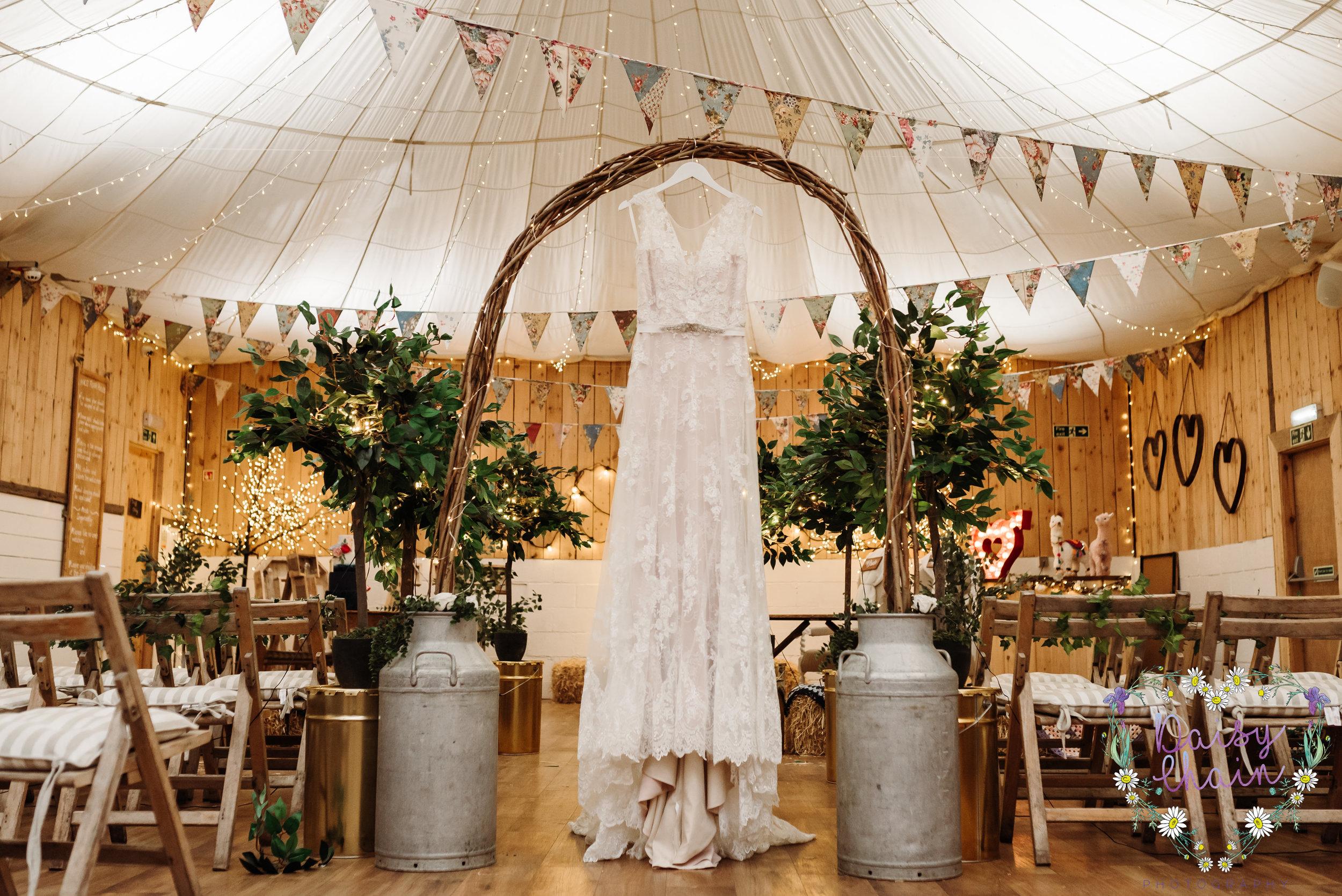 Blush boho wedding dress - lancashire