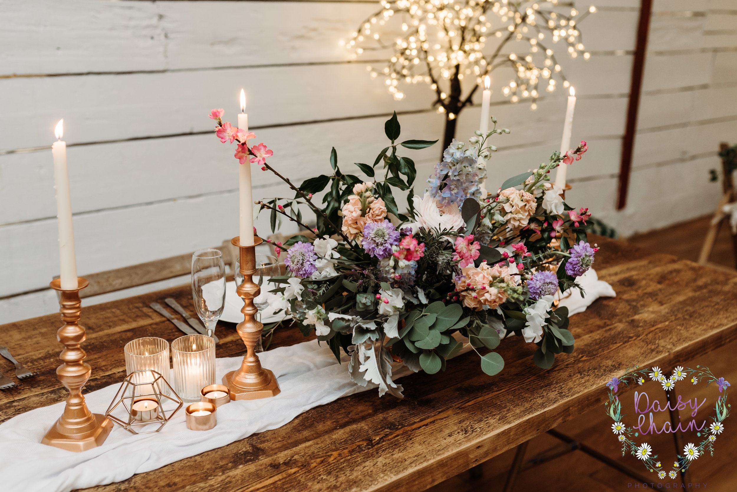 Boho wedding table setting