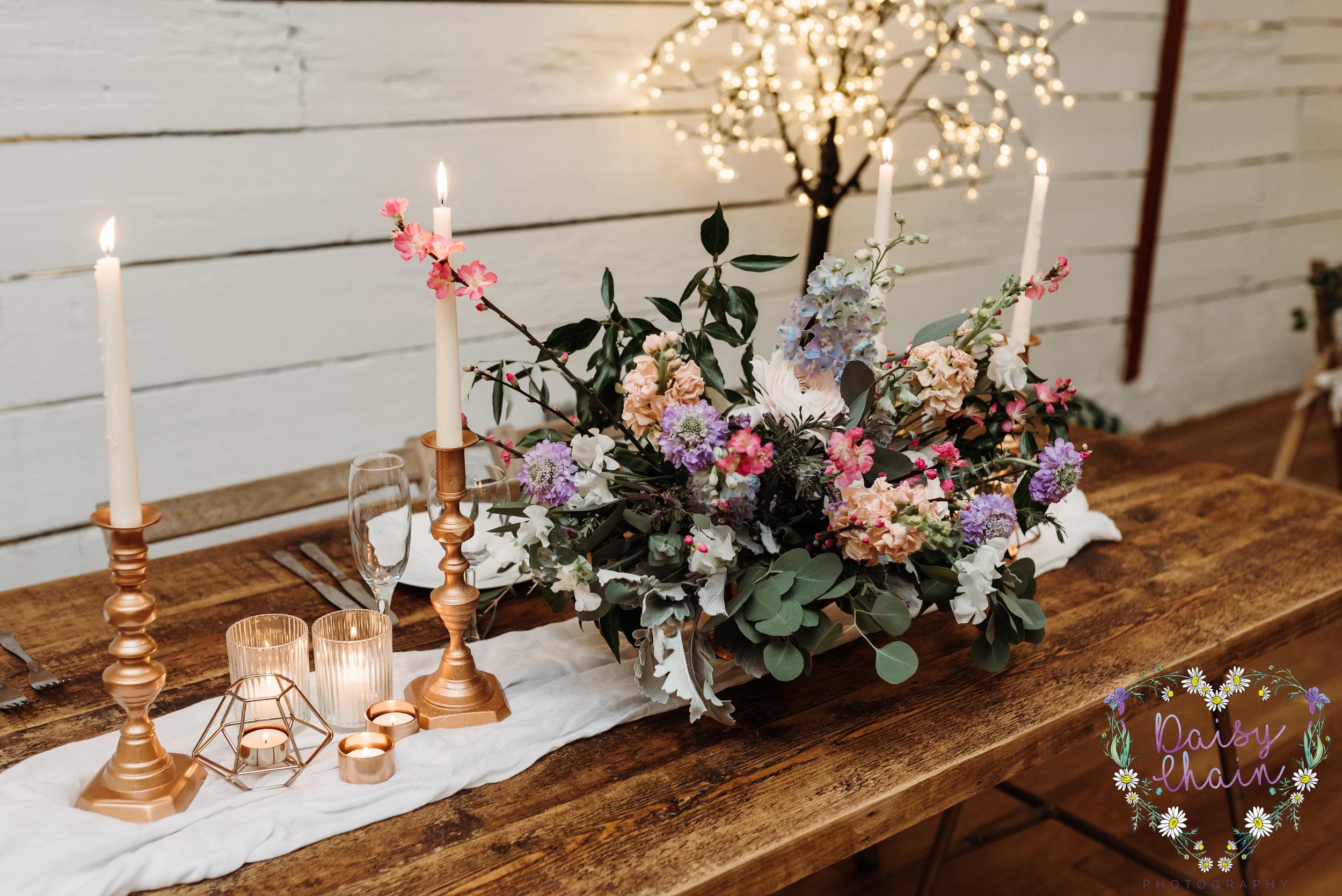 Boho wedding table setting