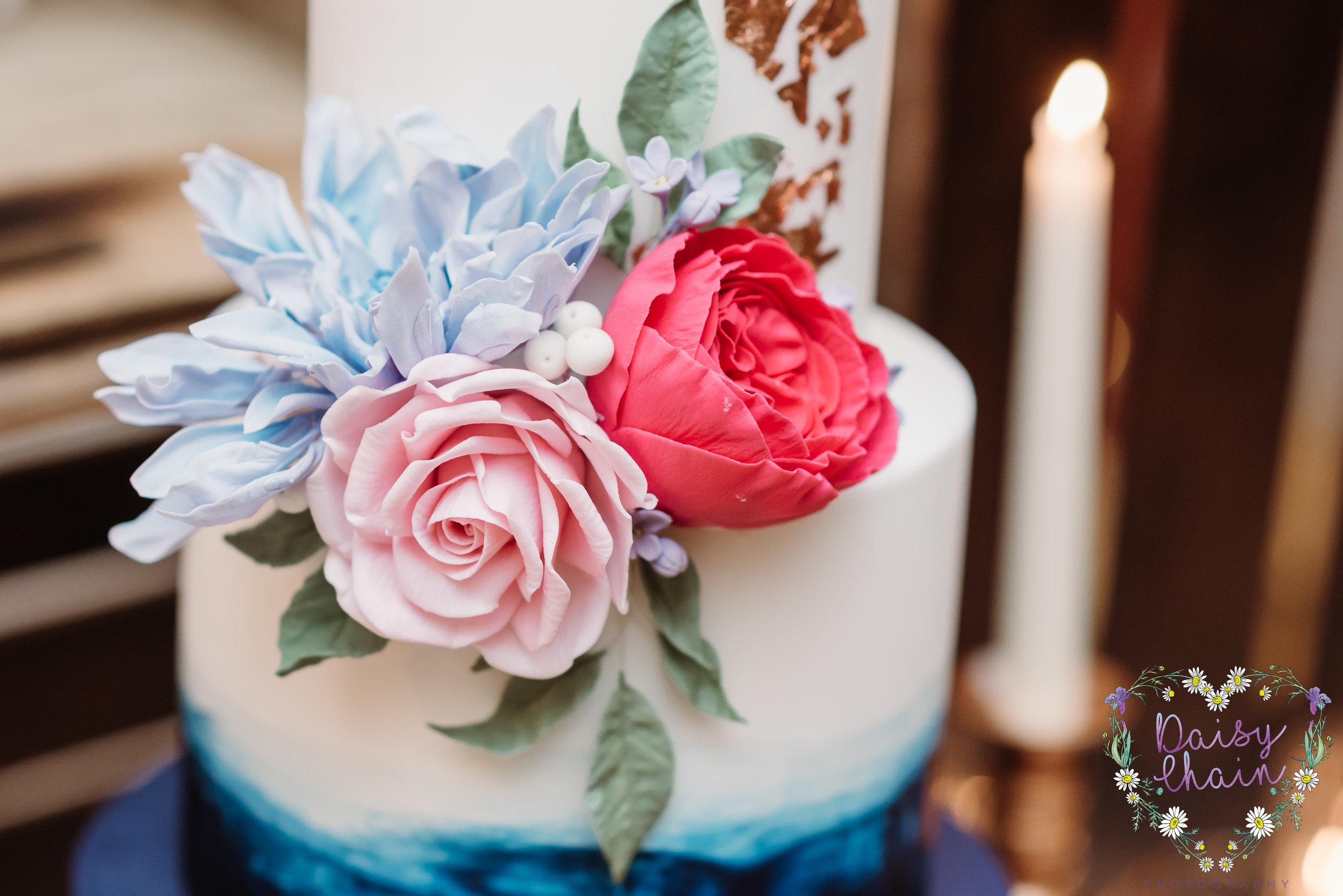 Sugar craft wedding flowers
