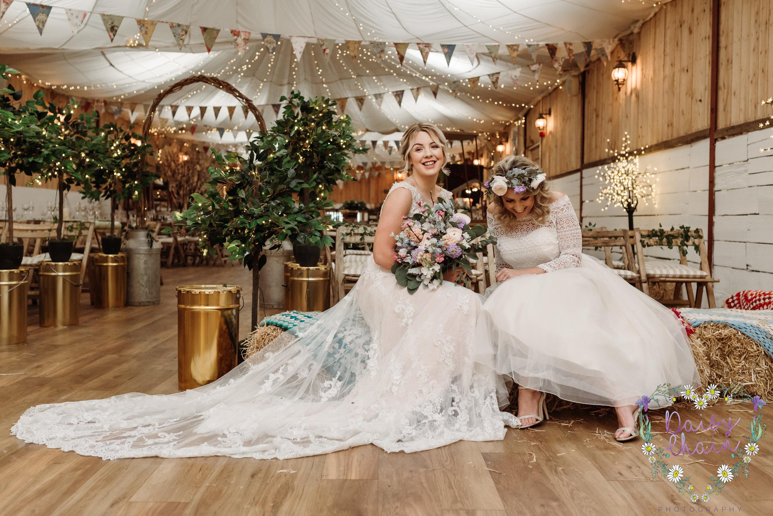 Gorgeous wedding portrait