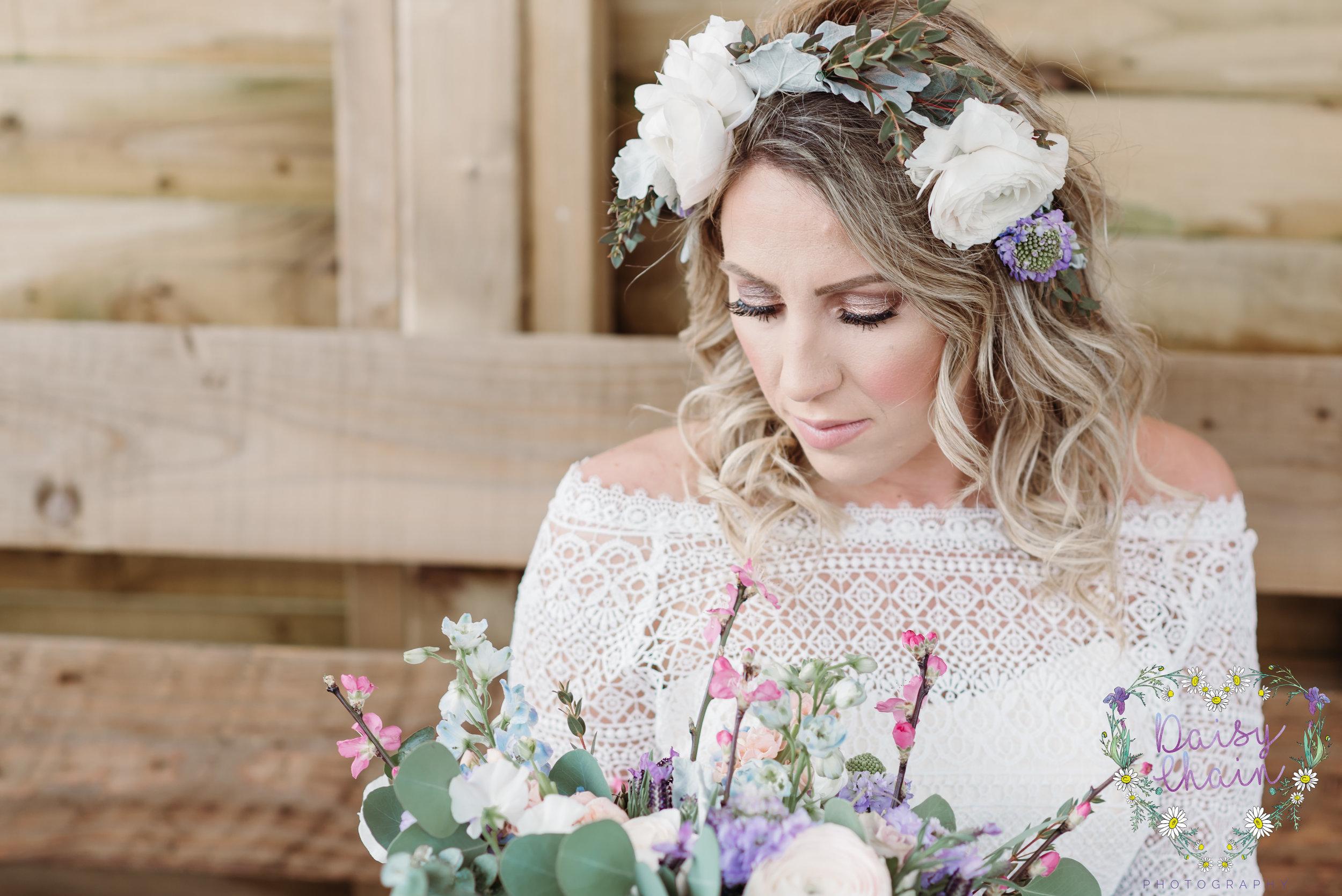 Boho wedding crown - lancashire