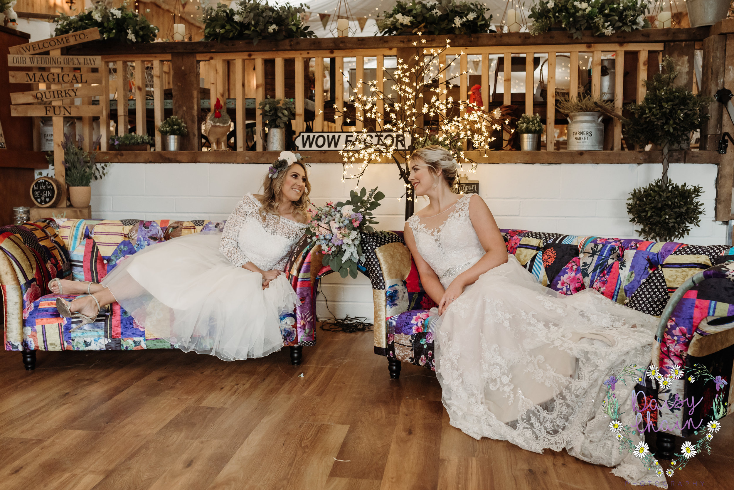 Same sex boho wedding - lancashire
