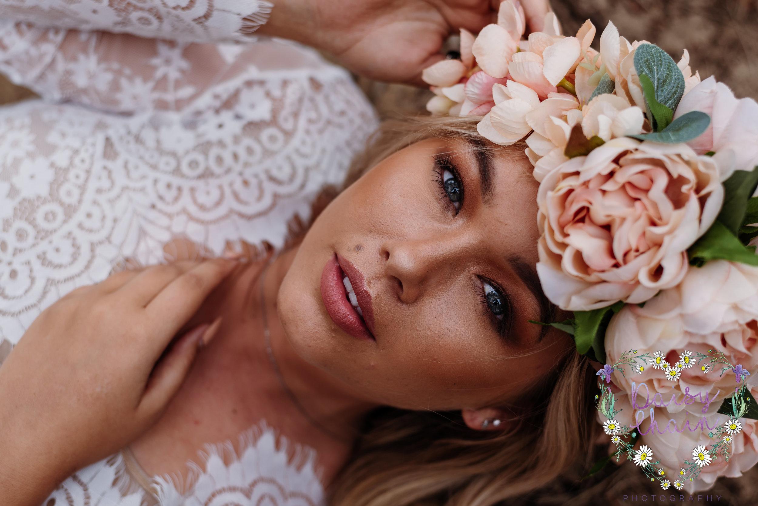 large flower crown - boho bride