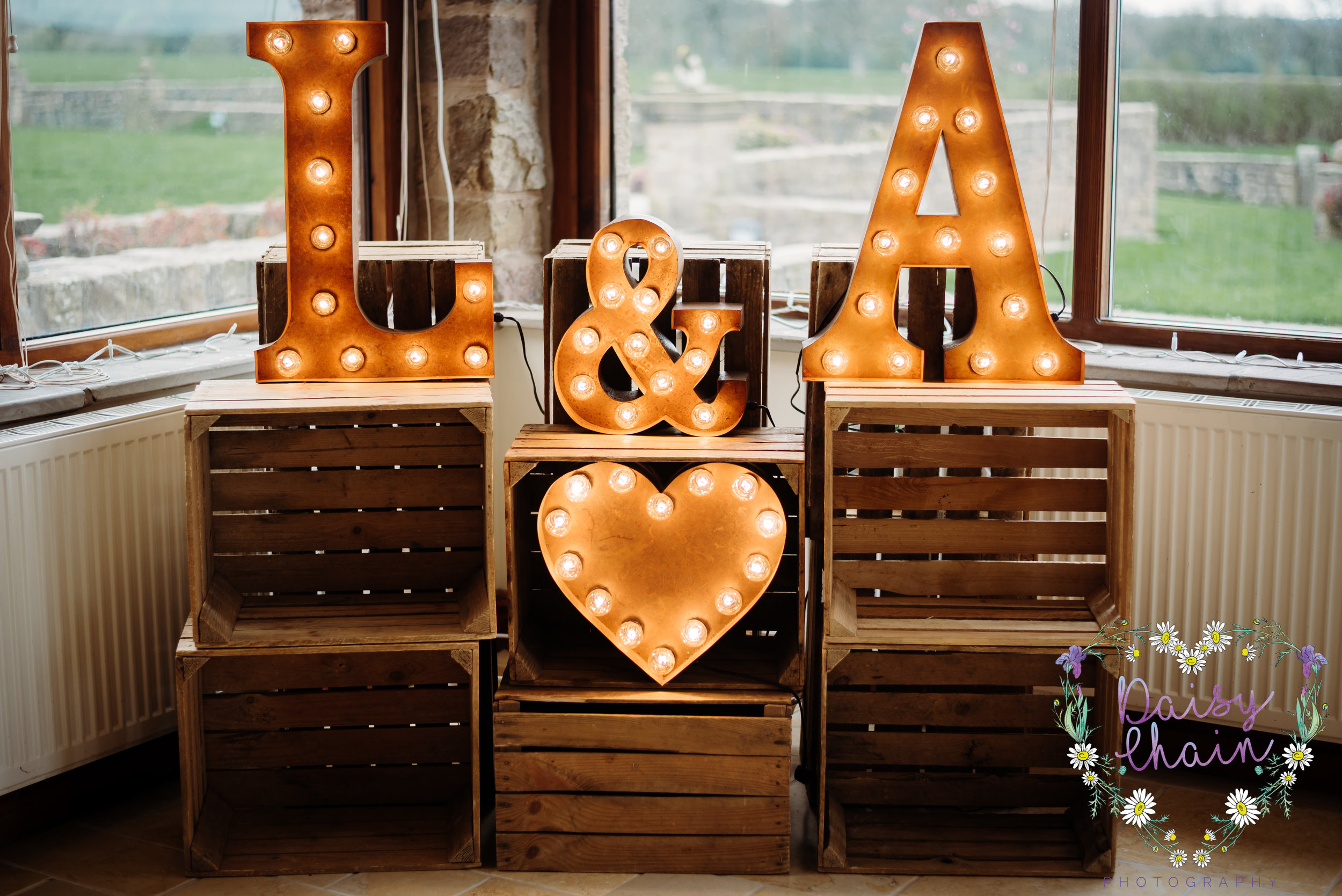 rustic wedding letters