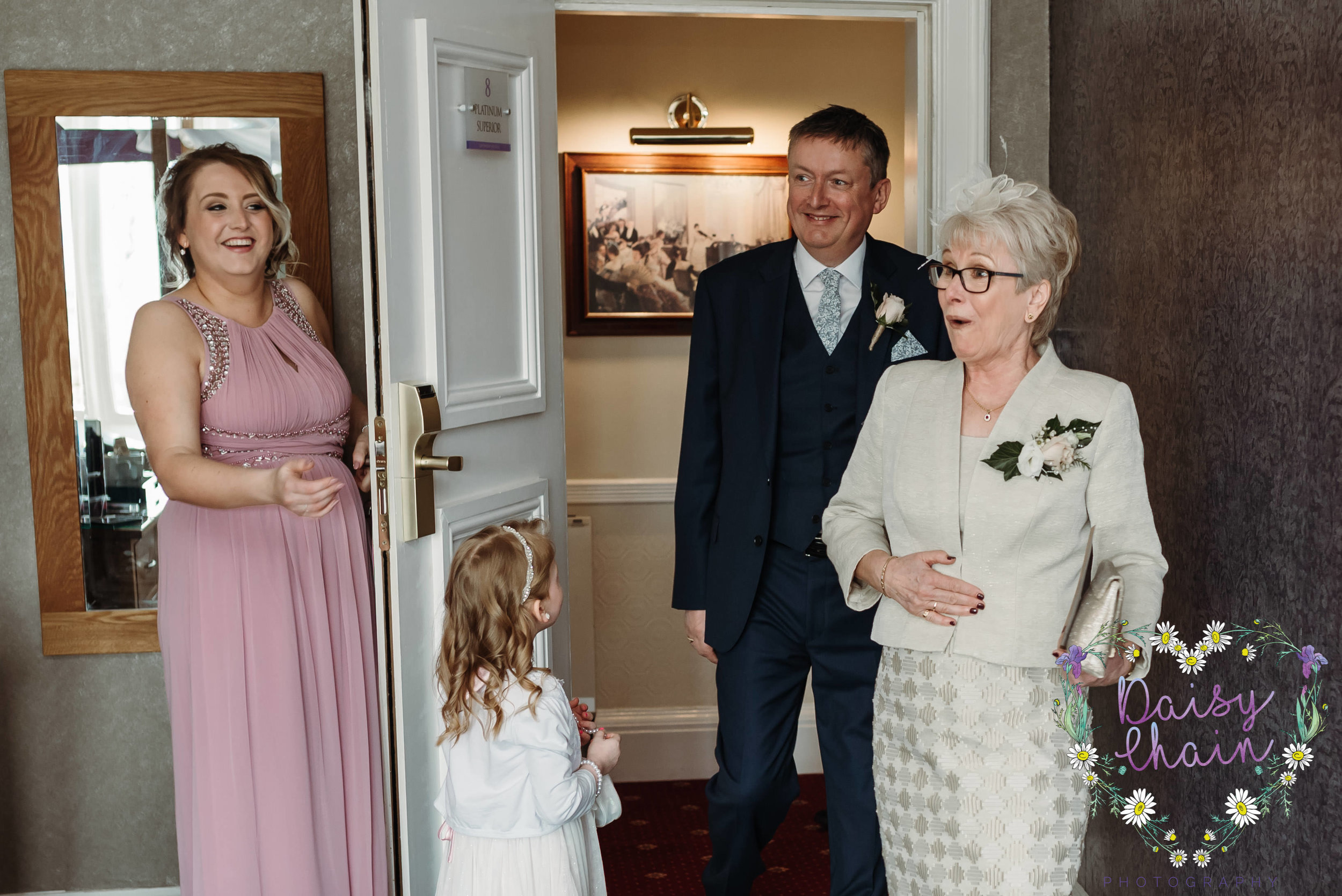 first seeing the bride