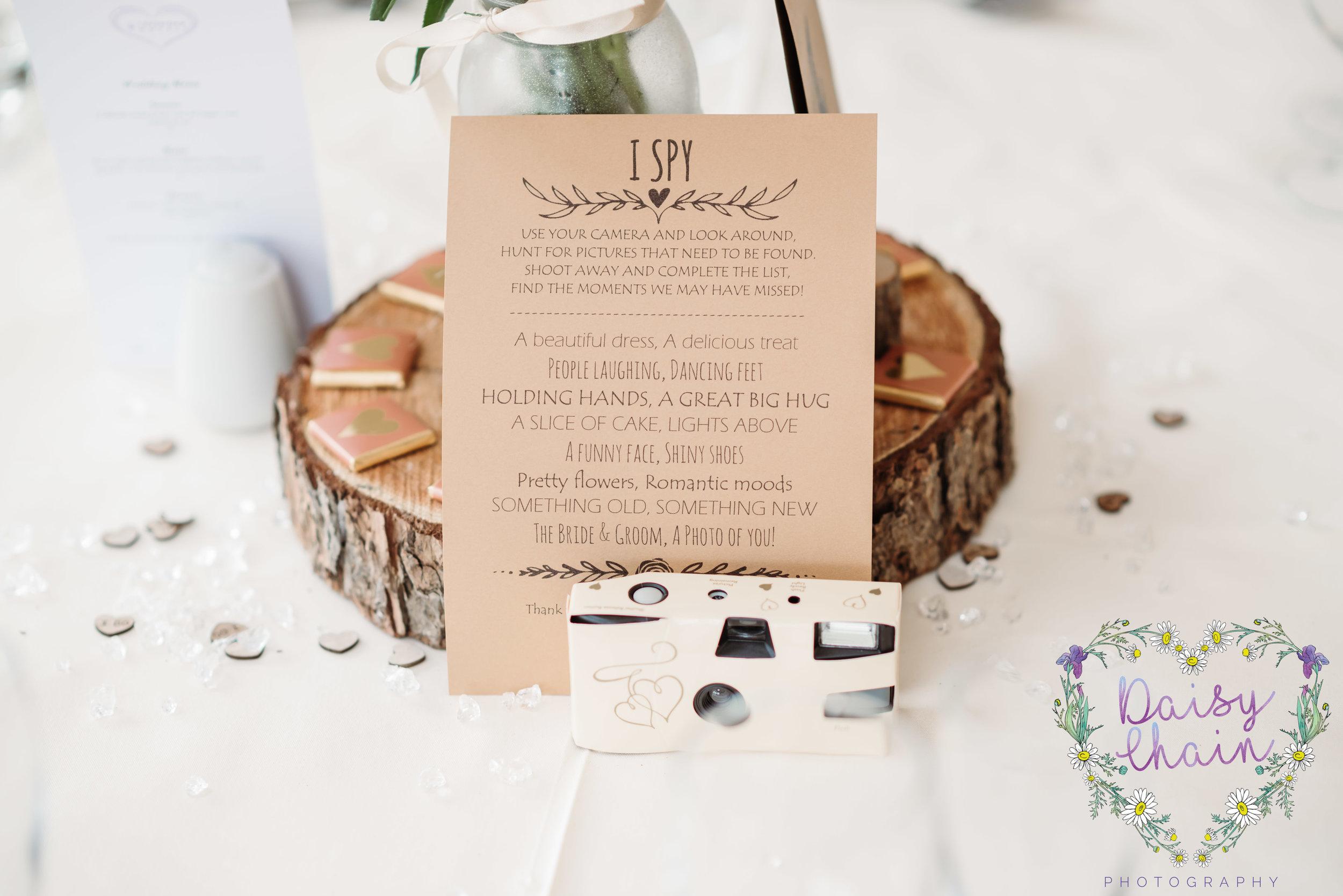 wedding breakfast detail