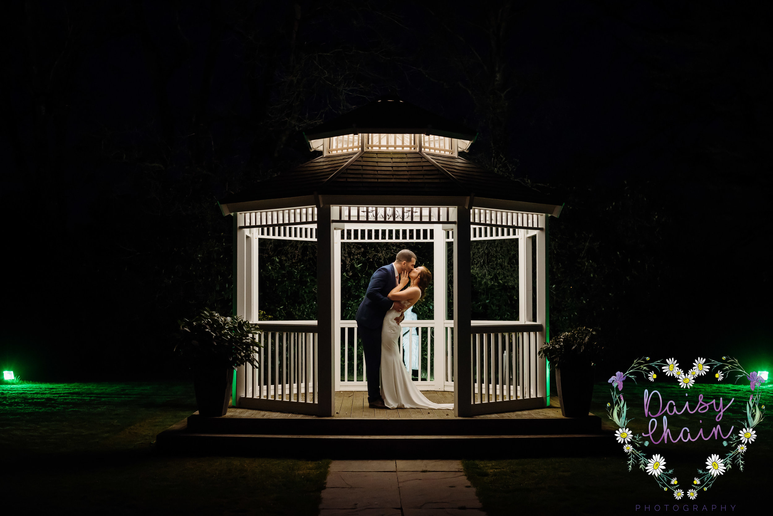 night time wedding photography
