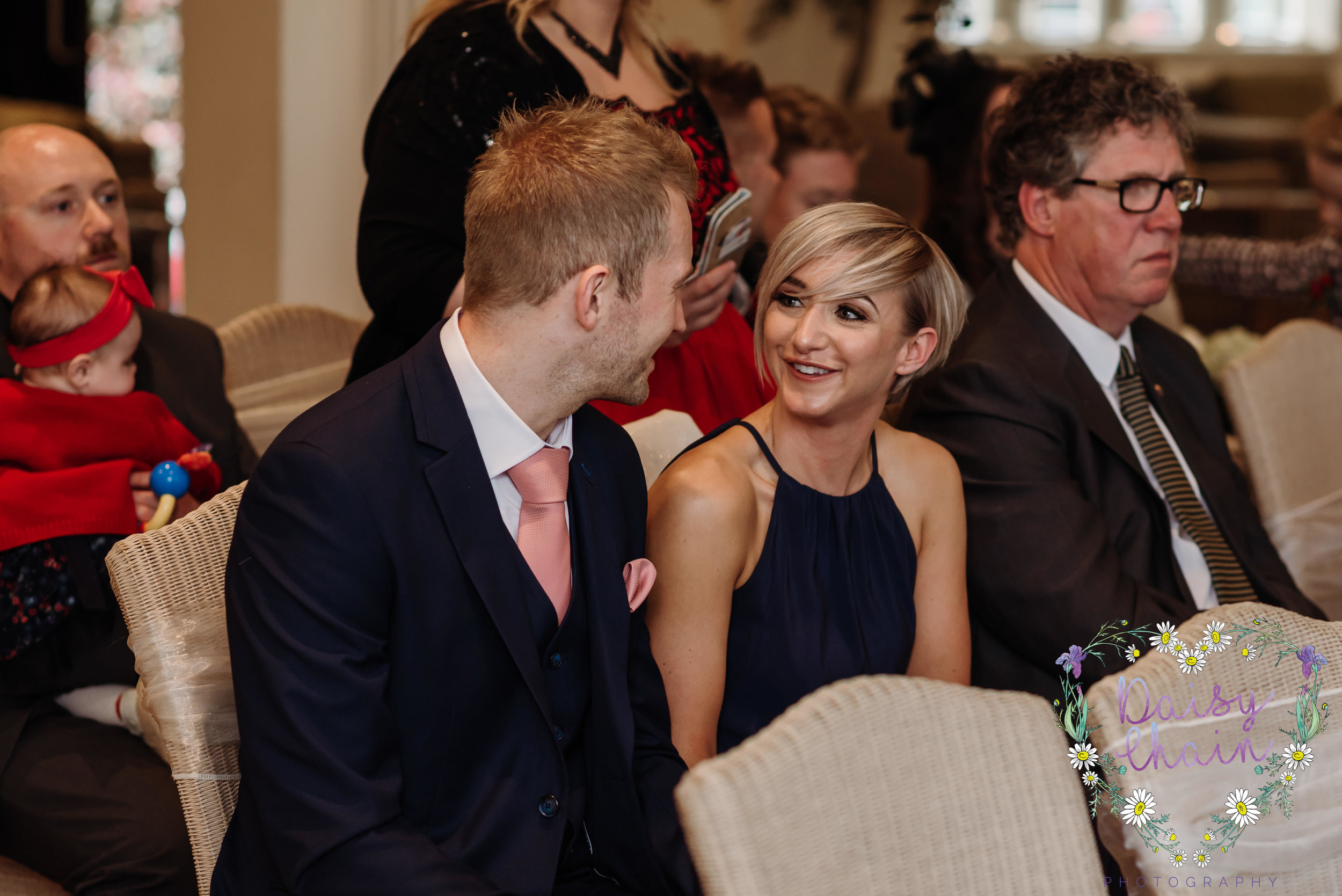 candid wedding guest at mitton hall