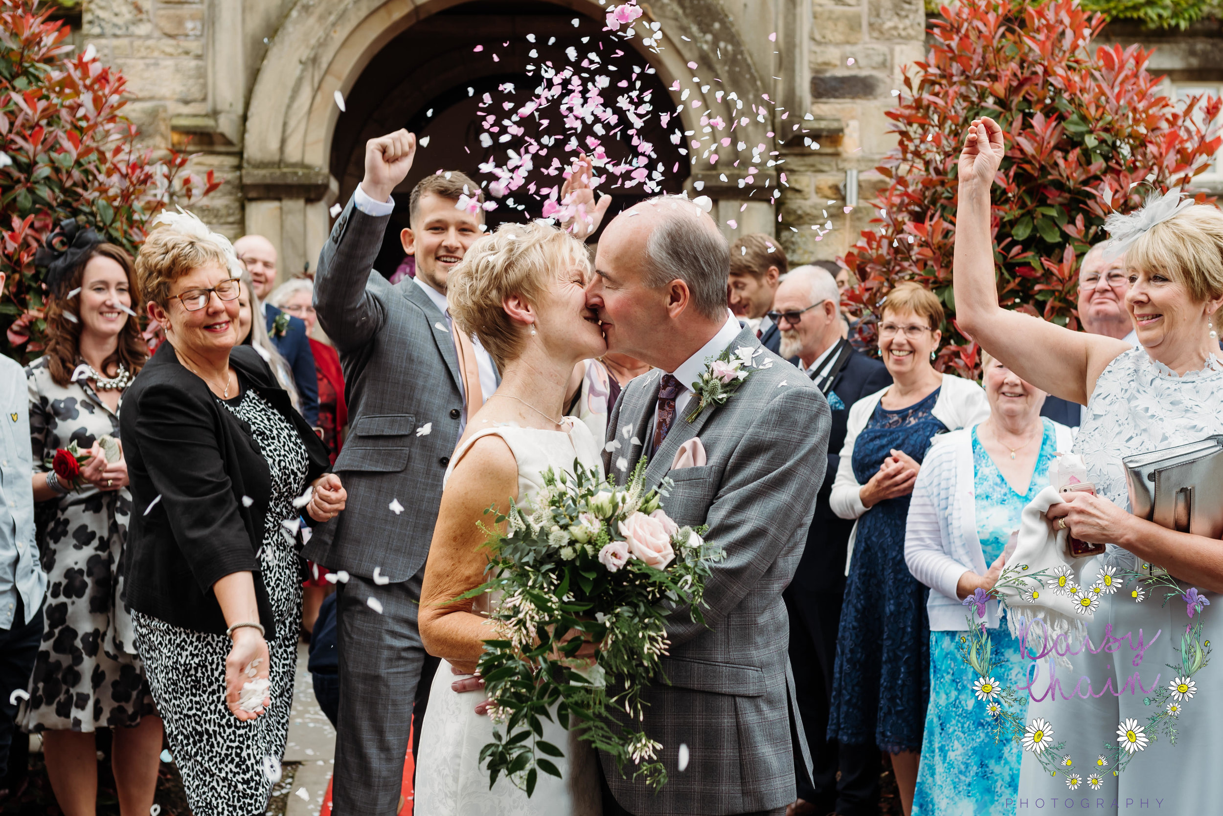 Confetti shot at Mitton Hall