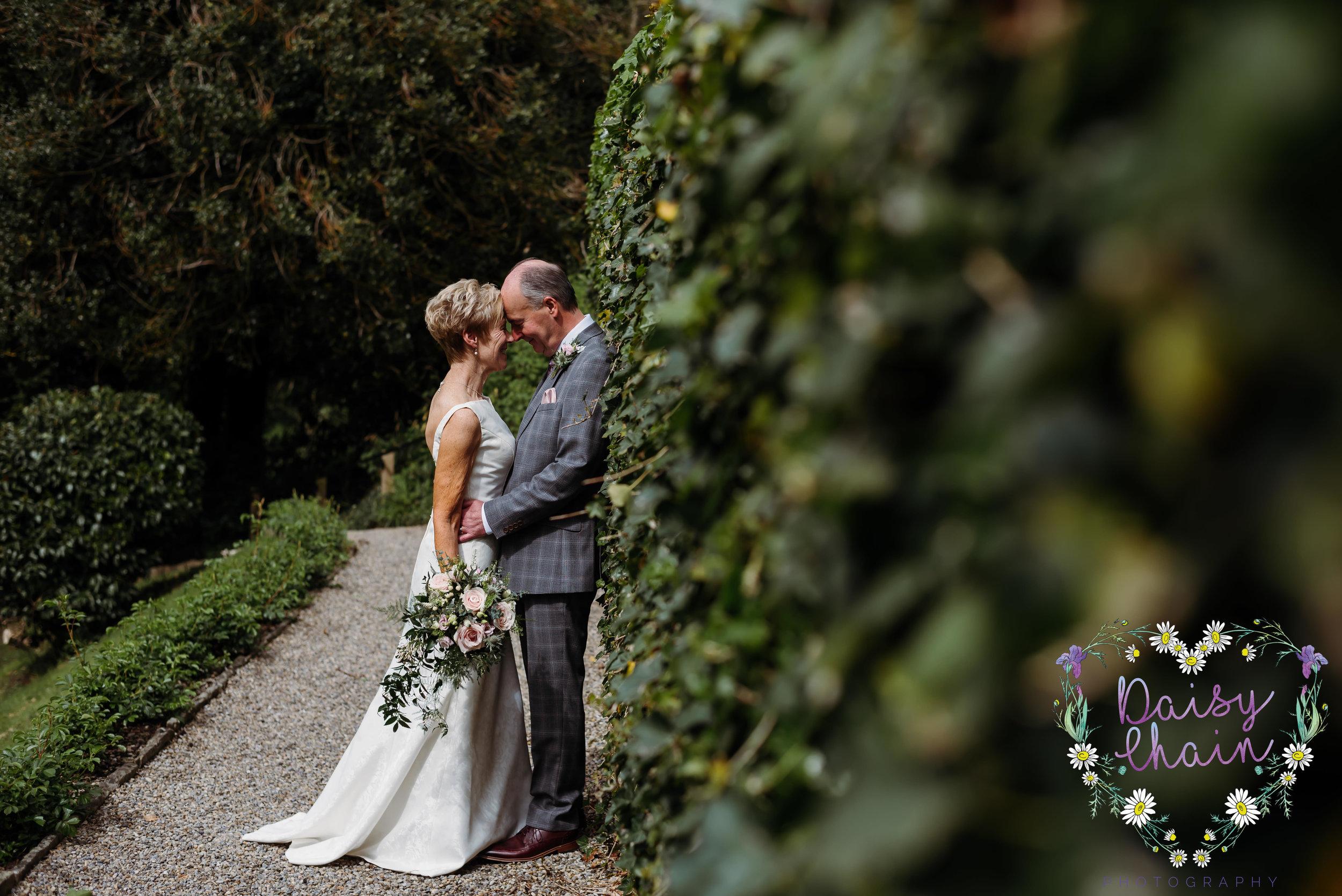 Mitton Hall wedding - garden