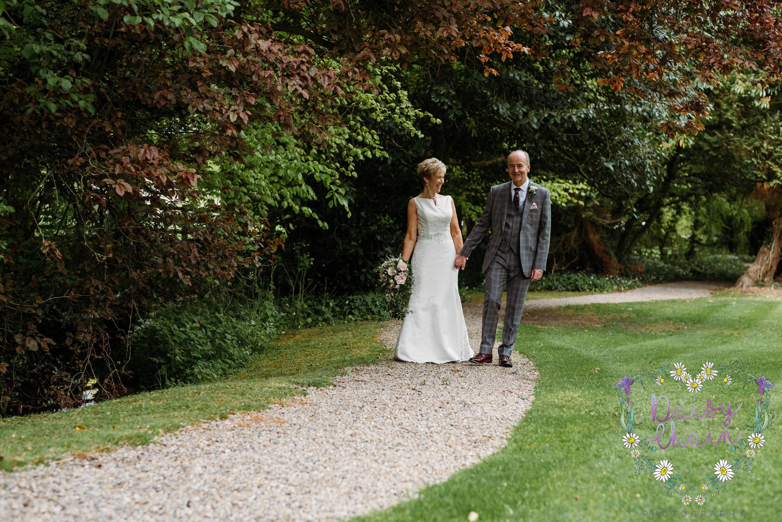 Walking in Mitton Hall gardens