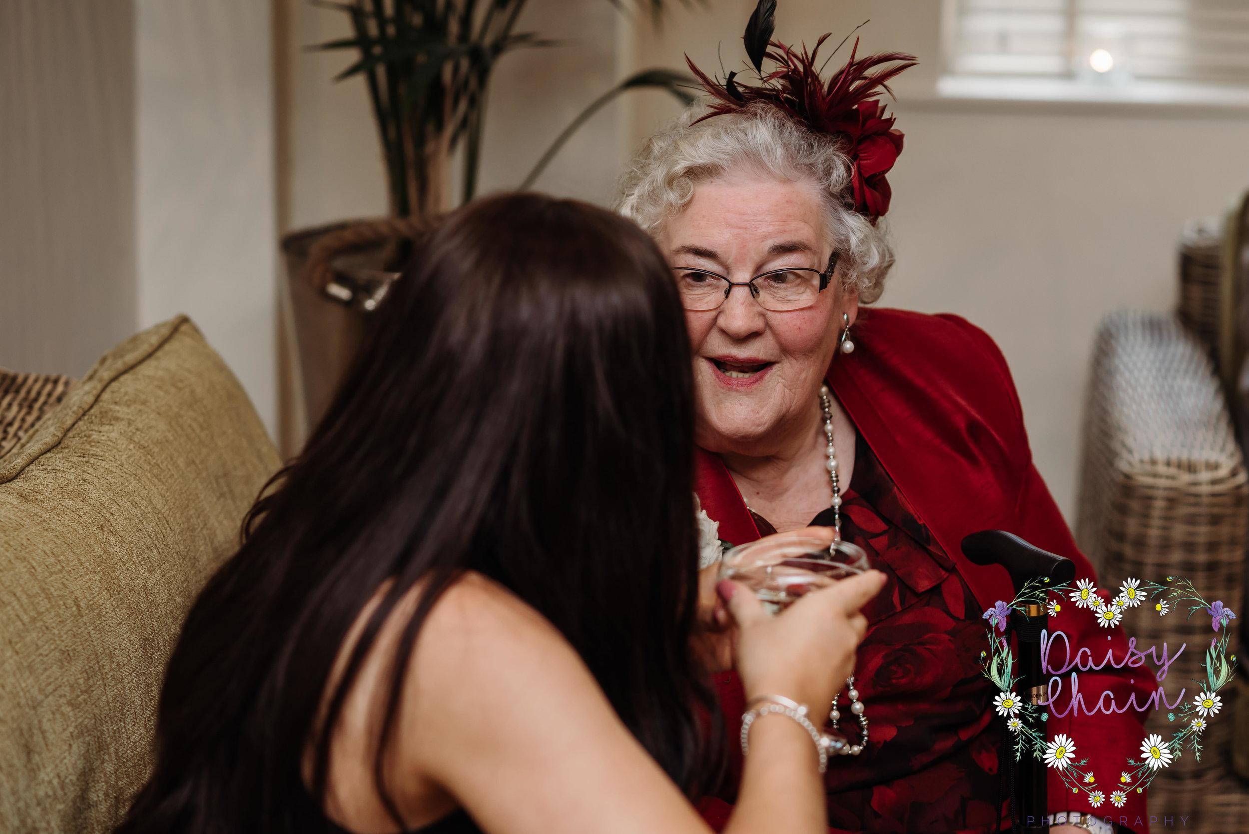 Grandma at a wedding