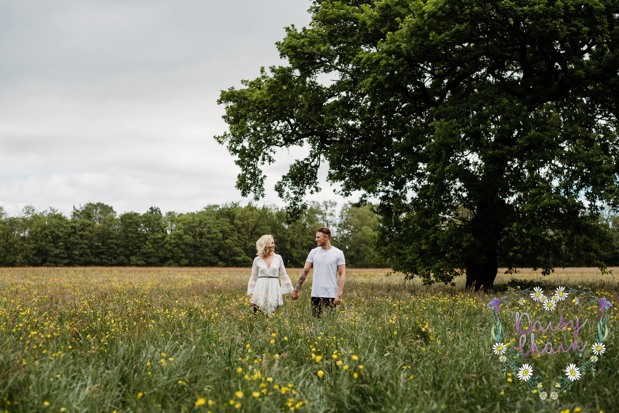 Meadow engagement shoot
