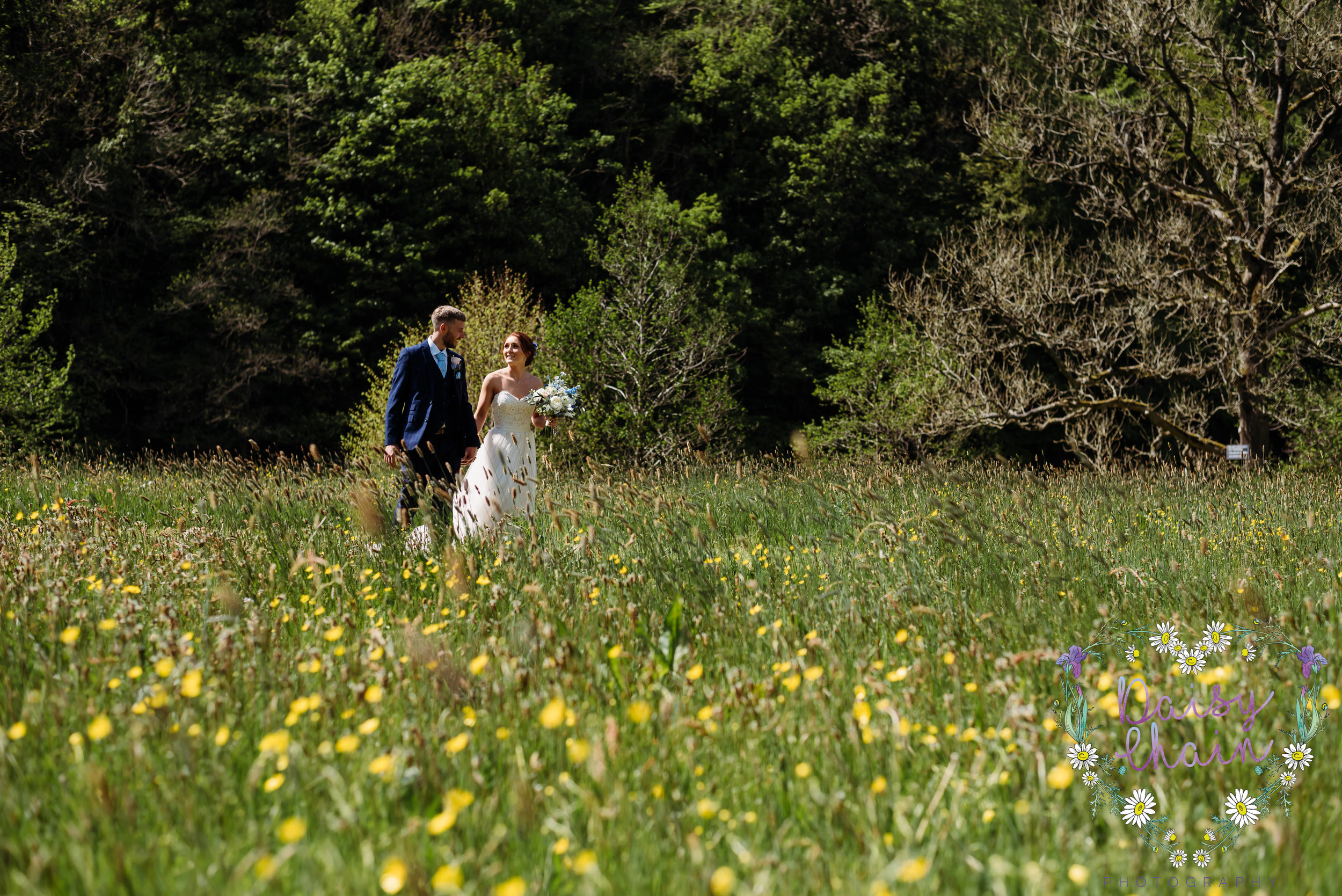 Ribble Valley wedding in a meadow
