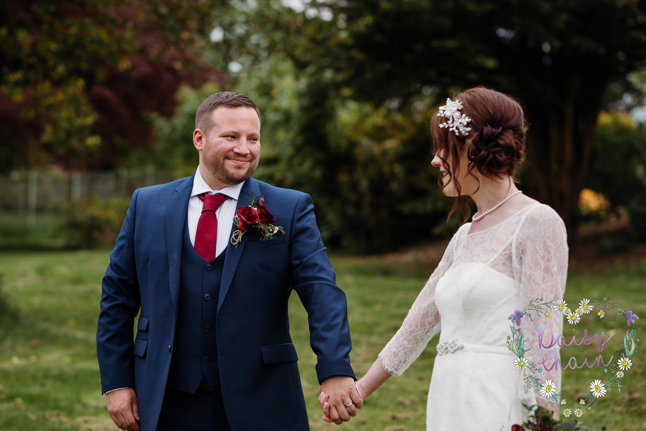 Couple in love. Lancashire wedding