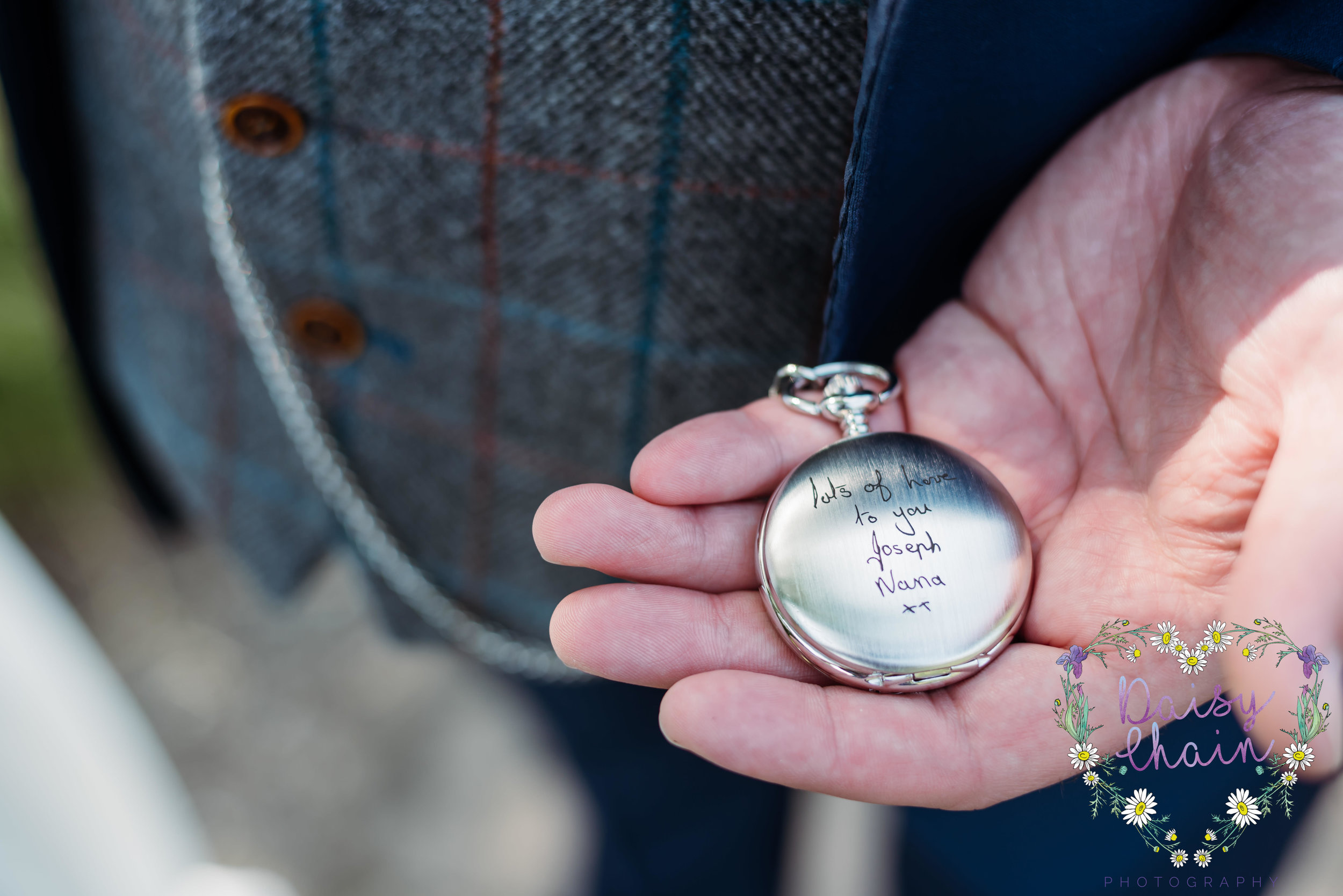 Personalised pocket watch for the groom
