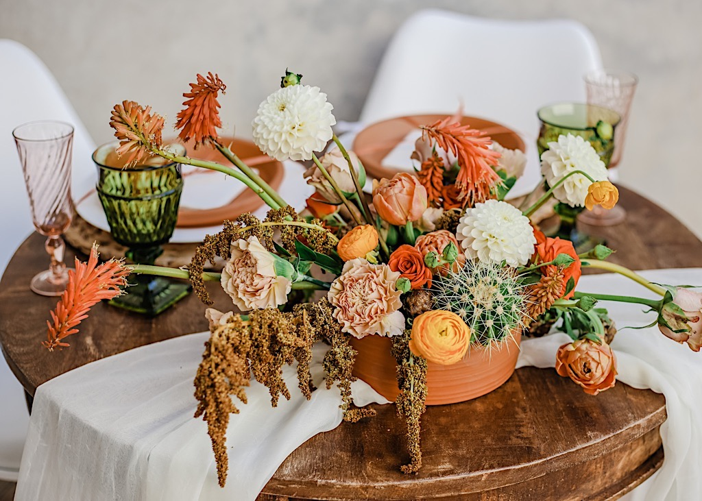 desert wedding centerpieces