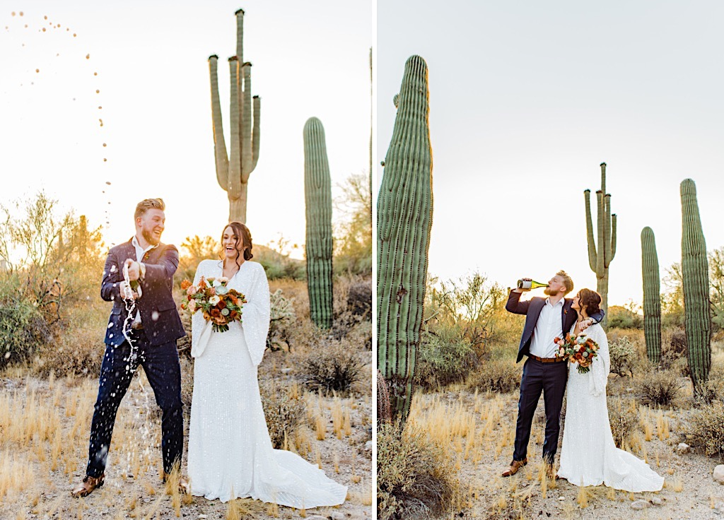 wedding photos in arizona desert