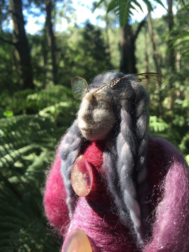 Cicada spirit doll by Sacred Familiar