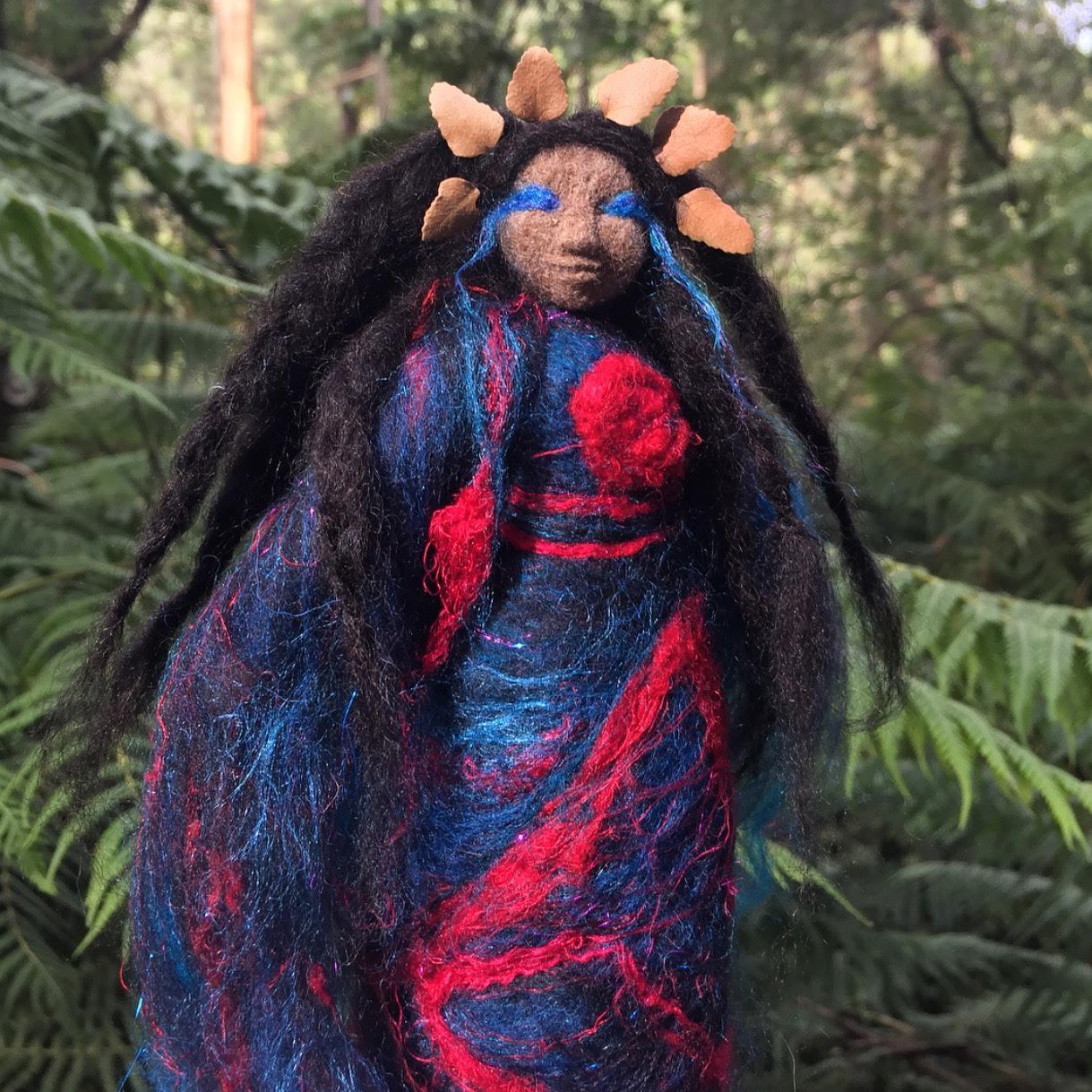 The Blackbird Spirit Doll -