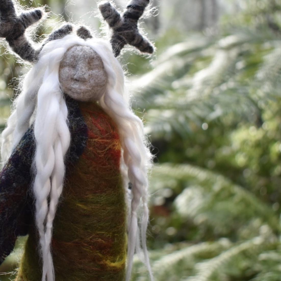 Rose Weaver Icelandic Moss Doll -