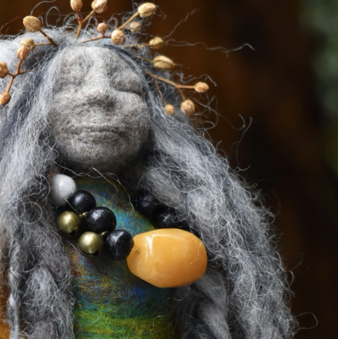 The Golden Cape Willow and Eucalyptus Doll -