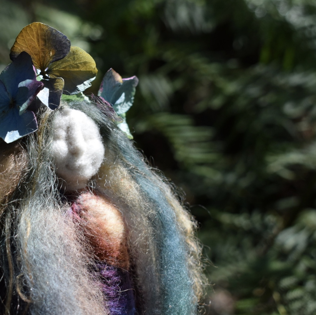 Hydrangea and Willow Doll -