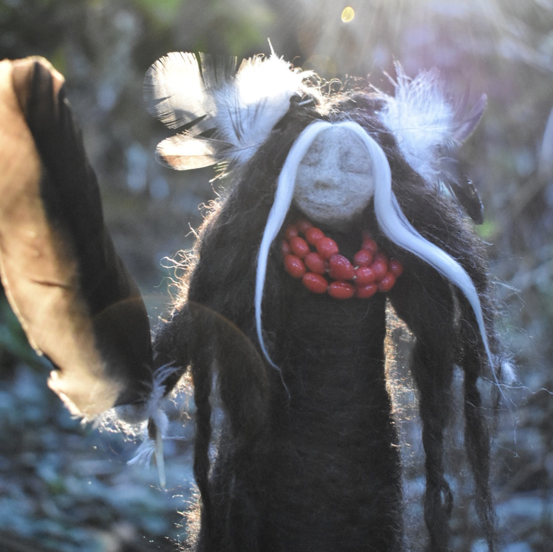 The Crow Memory Spirit Doll -