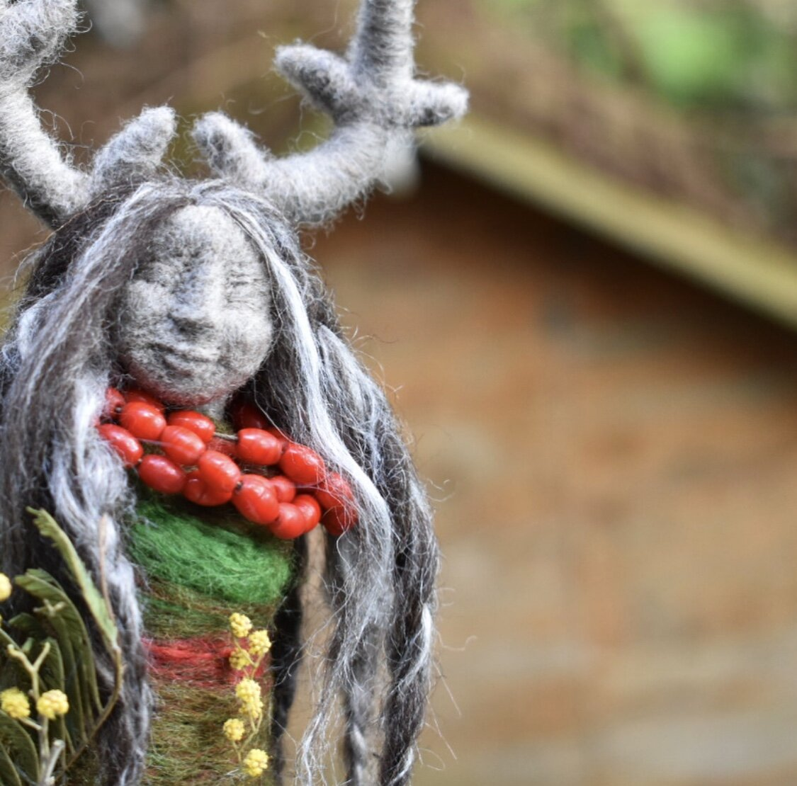 Raspberry Leaf Deer Doll -