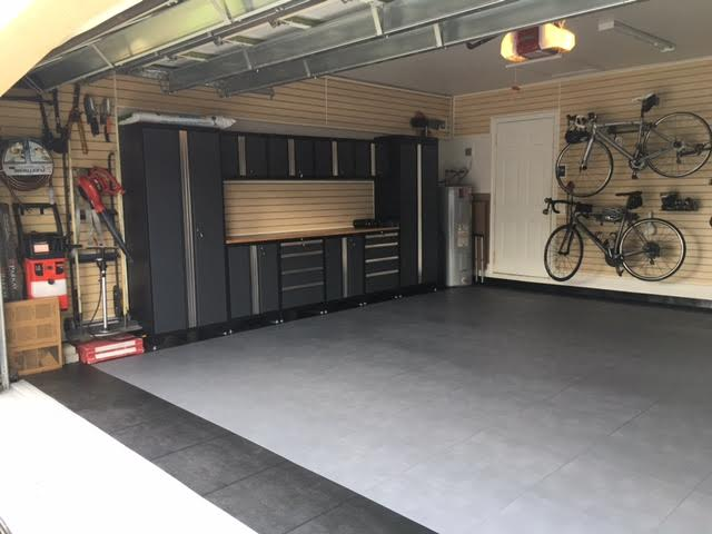 Leather Tile in a Garage