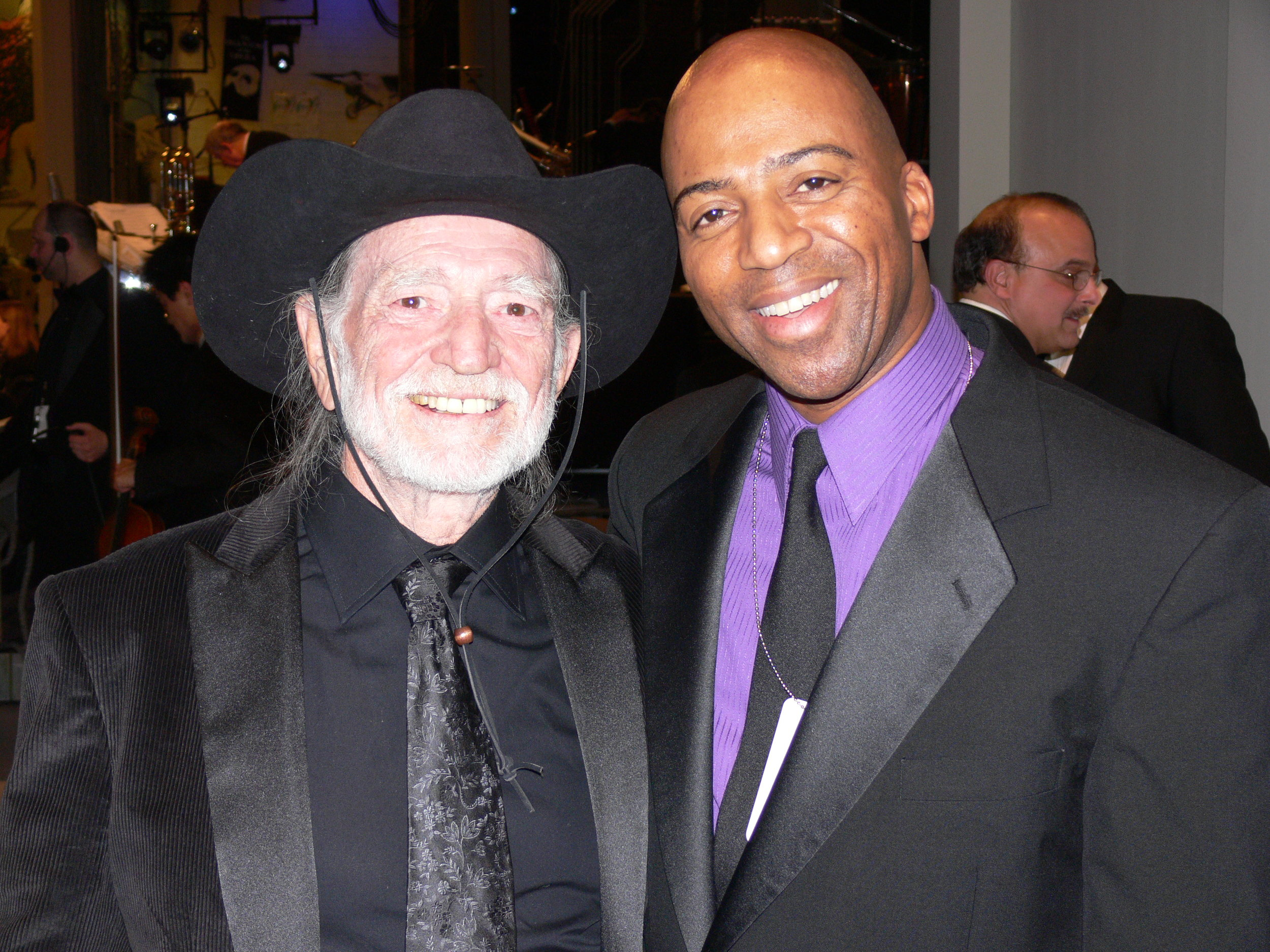 Willie Nelson and Keith Robinson