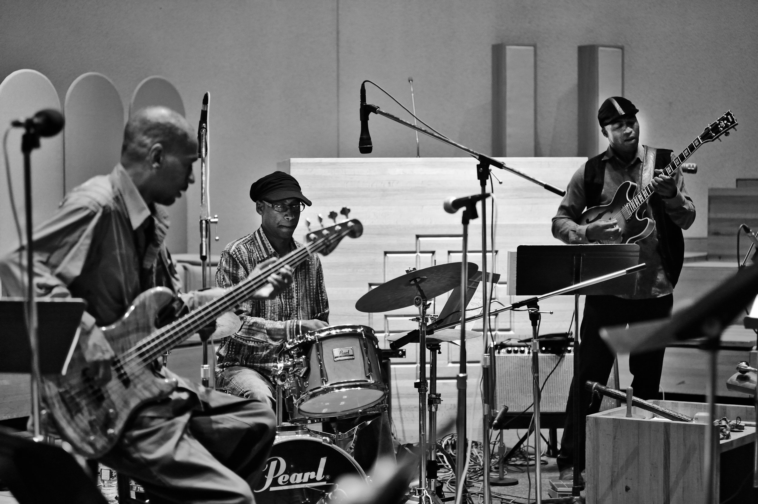 Victor Bailey, Omar Hakim and Keith Robinson