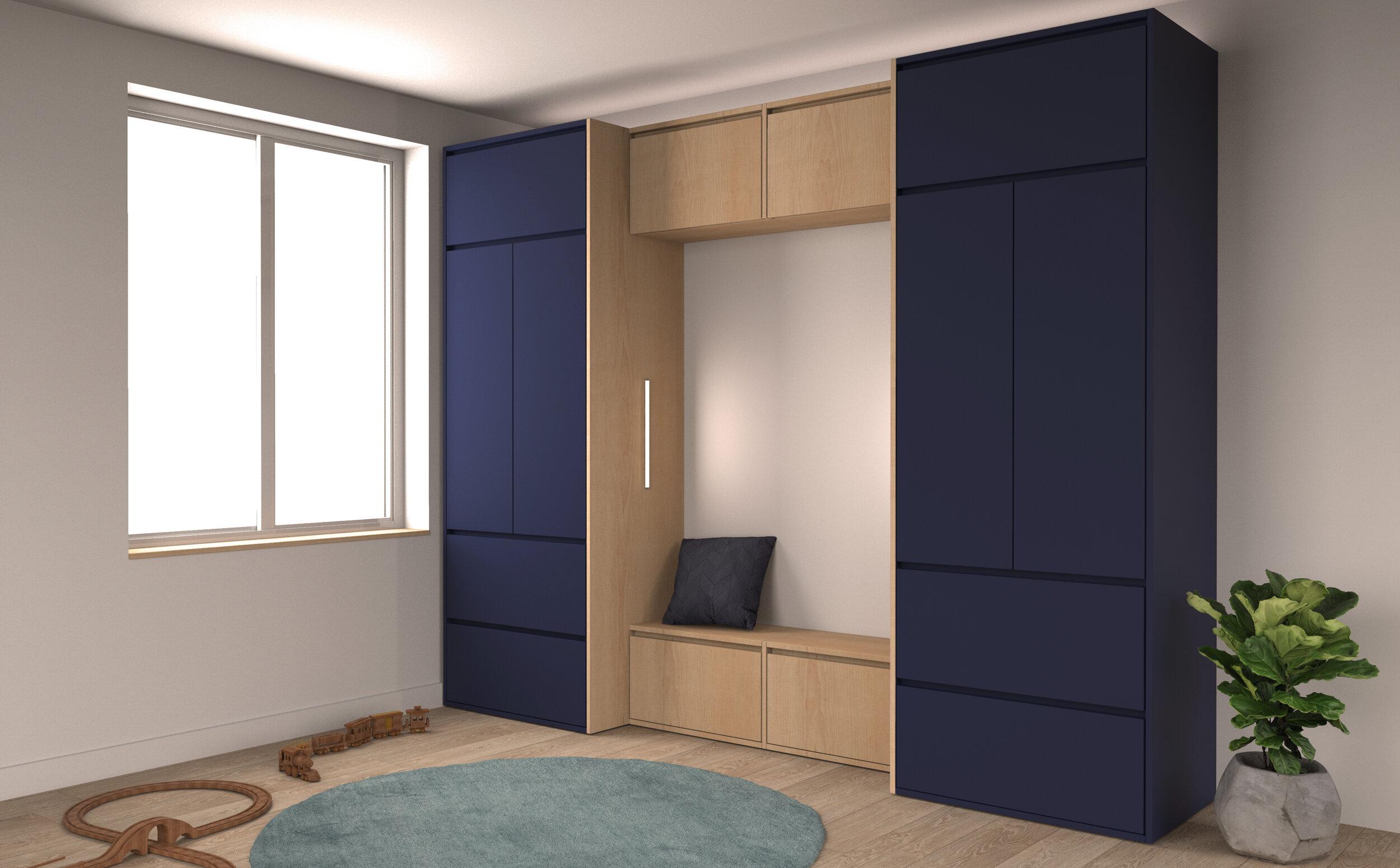 Kids Bedroom Built in Furniture Closet Vancouver Anthill Nexus.jpg