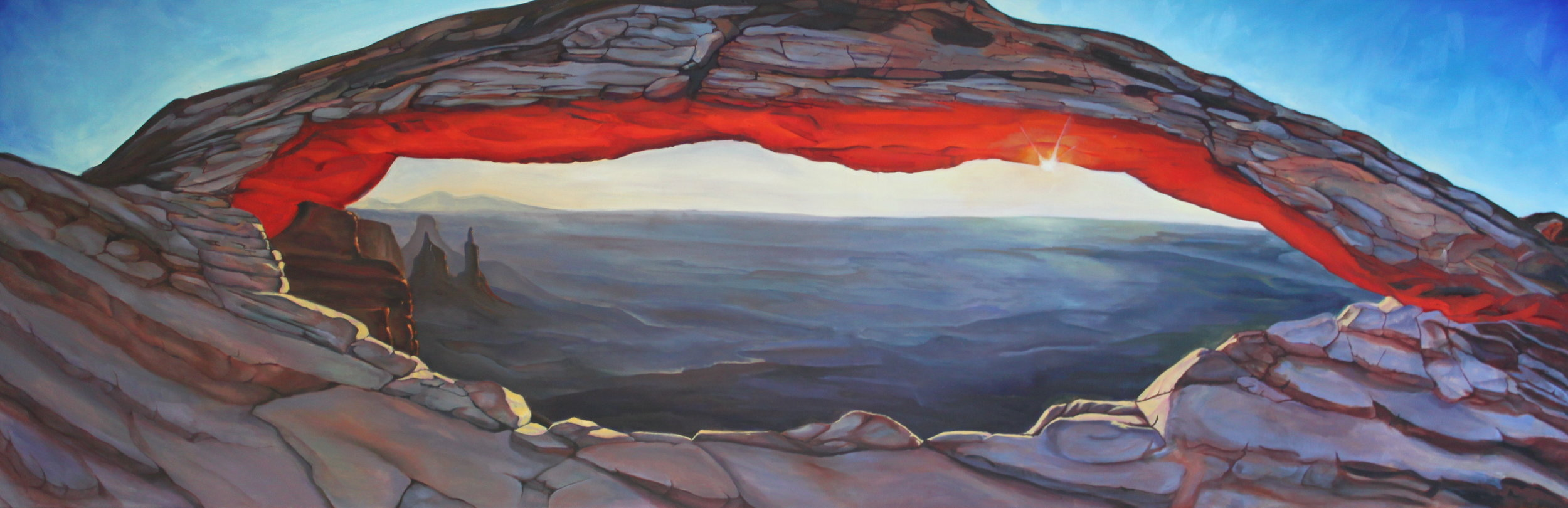 Mesa Arch. Oil on Canvas. Approximately 30x82