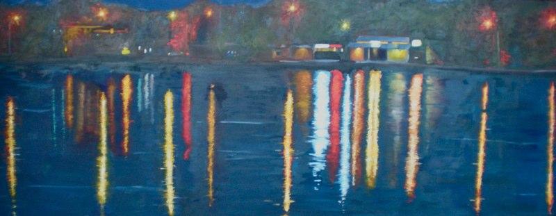City Park. Oil on Canvas. Approximately 30x72