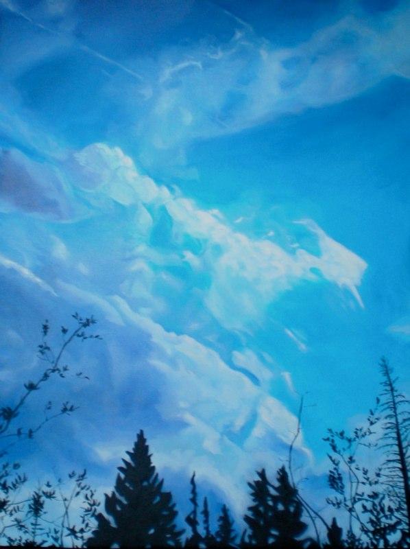 Sky Study I. Oil on Canvas. 36x48
