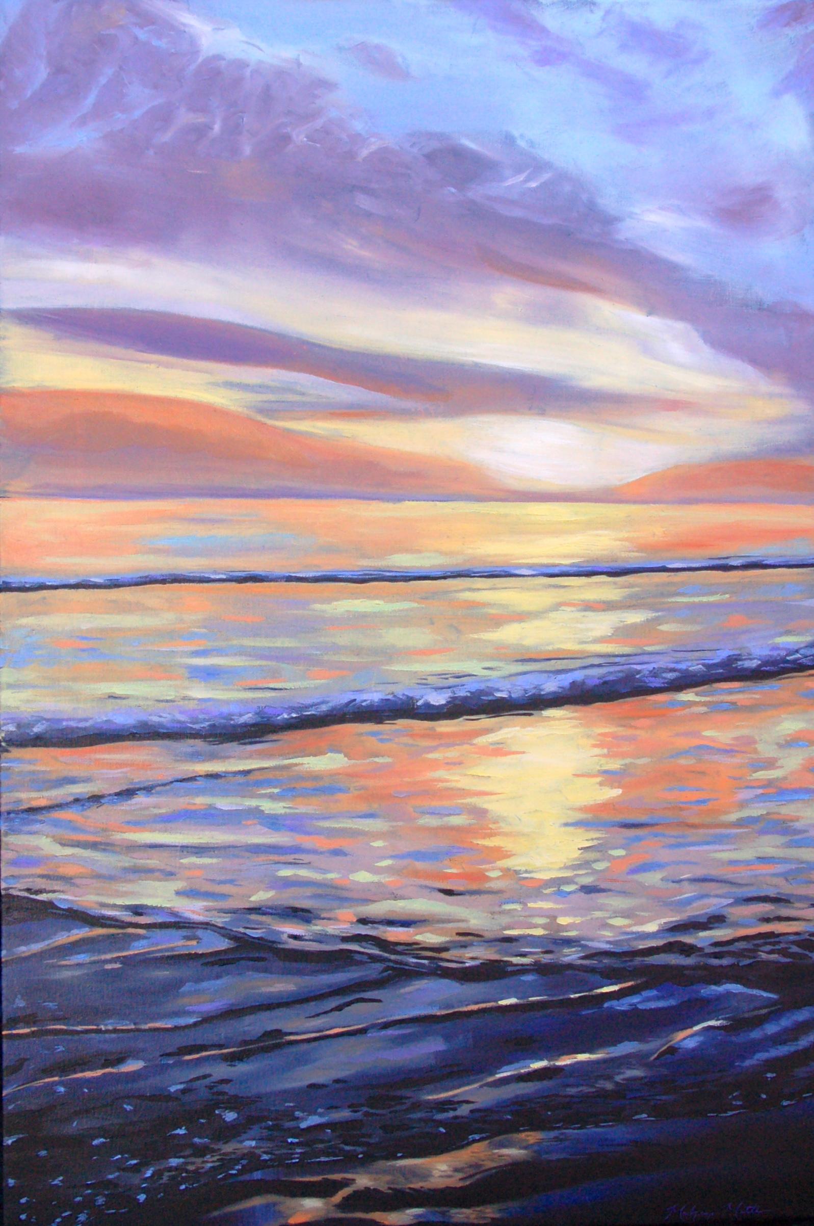 Tangerine Sunset. Oil on Canvas.