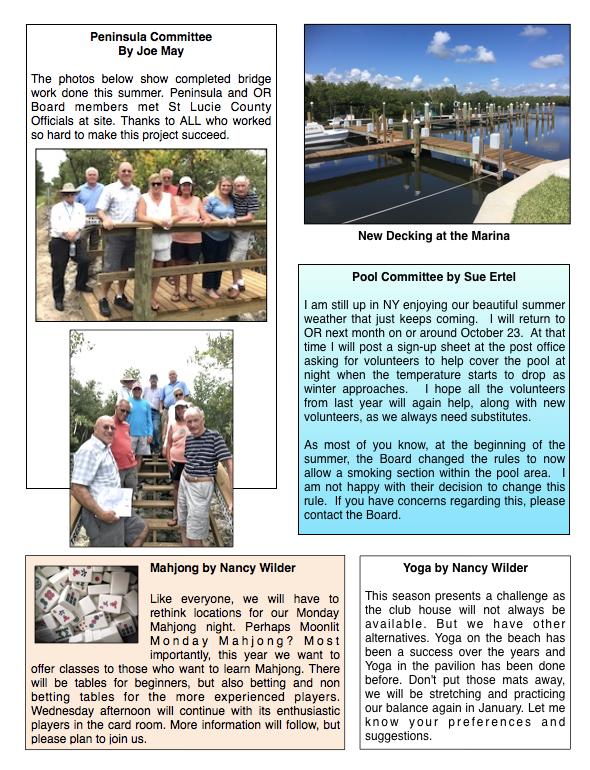 Newsletters — Ocean Resorts Co-op, Inc
