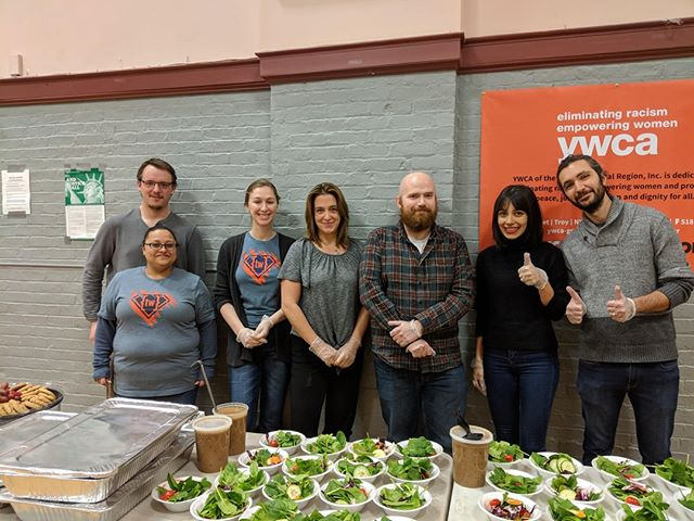 Always good to give back. We continue support the YWCA and volunteer at the YWCA Community Meal event. Give back to the community at http://www.ywca-gcr.org #ywca @ywca_neny @ywcausa