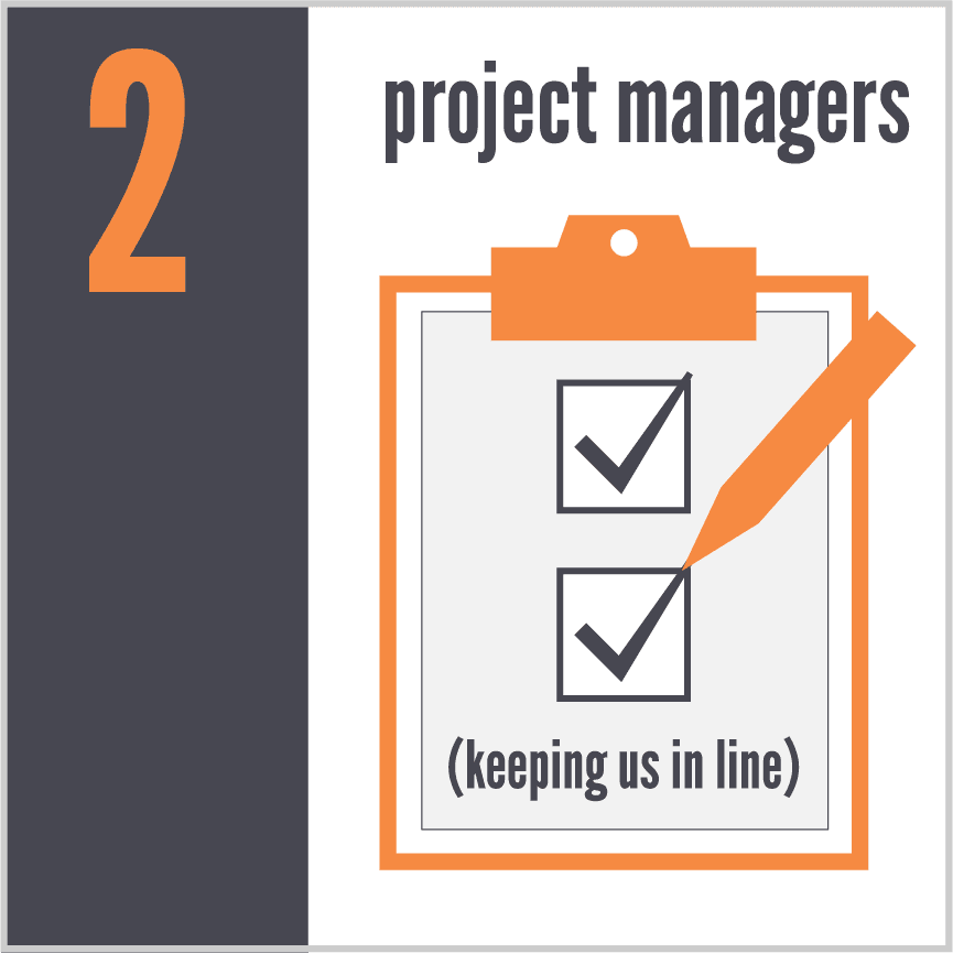 Copy of 2 project managers keeping us in line
