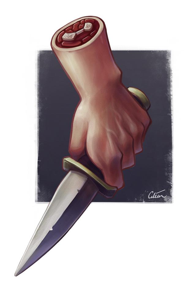 Waif knife by Dr Ciléin Kearns (artibiotics)
