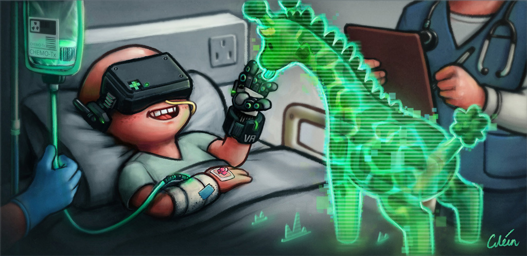 Chemo virtual reality by Dr Ciléin Kearns (artibiotics)