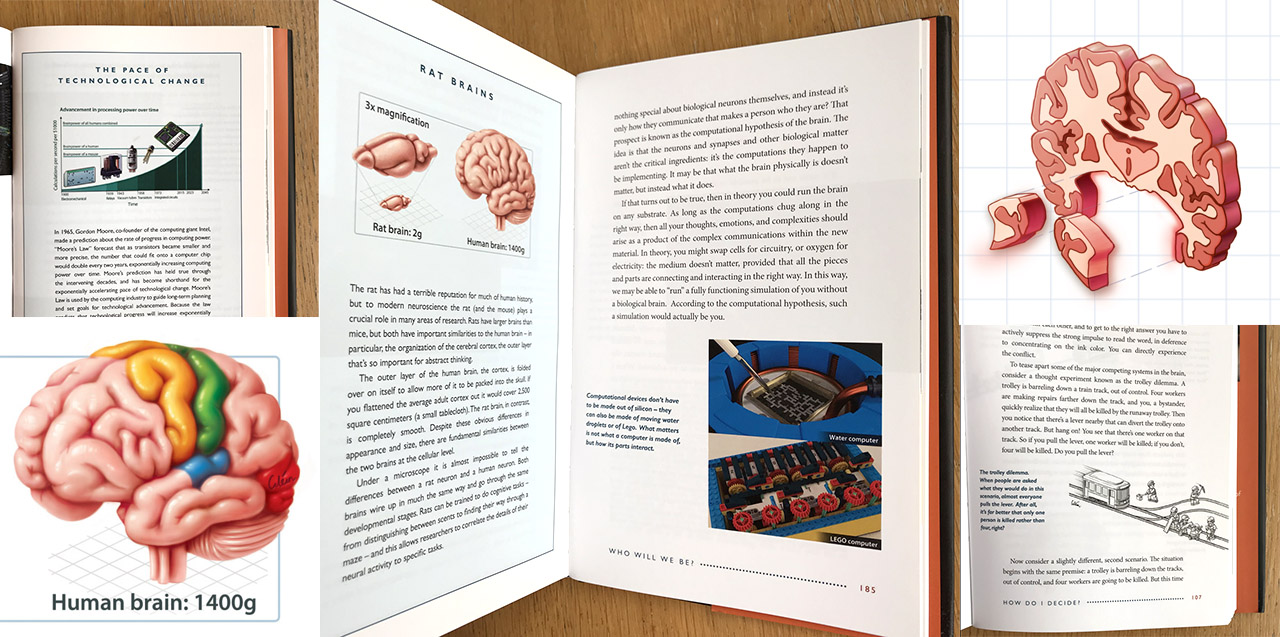 Some of my medical illustrations in the book!