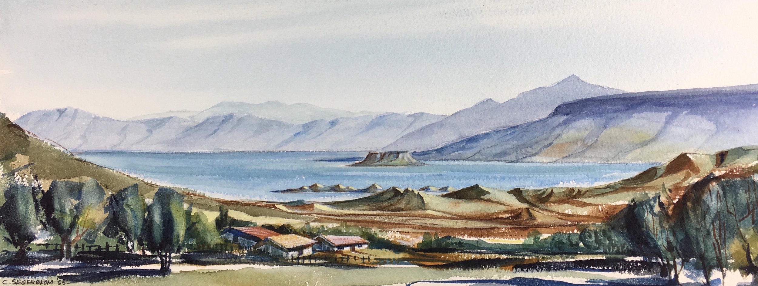 """Lake Mead,"" Cliff Segerblom, 1965 (Sold)"